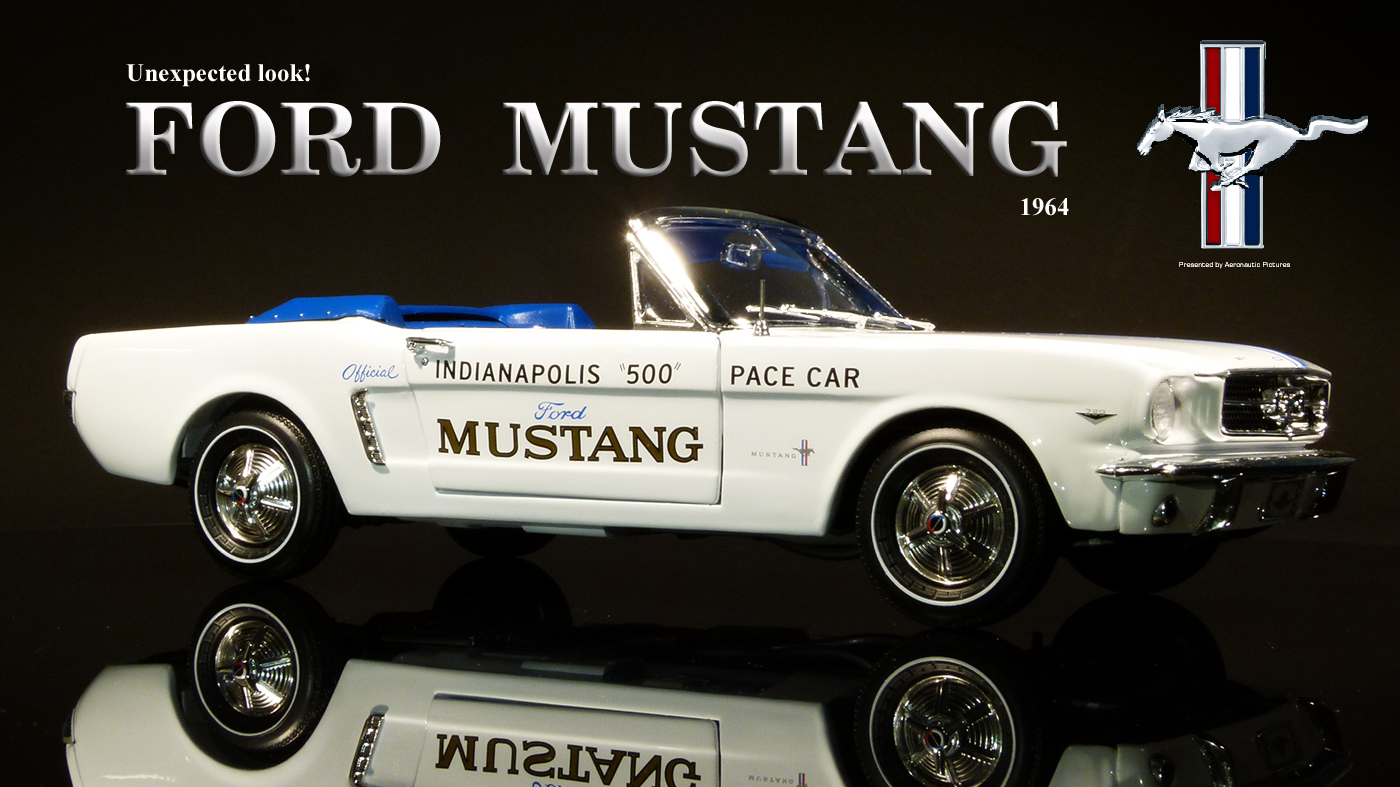 AUTOWORLD AW209 INDY 500 PACE CAR 1964 1//2 FORD MUSTANG CONVERTIBLE 1//18 WHITE